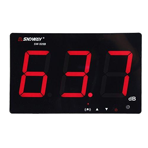 """サウンドレベルメーター アラーム機能 騒音計 データ保存 騒音測定器 バックライト搭載 USB電源9.6"""" 30-130dB LCD デジタル ノイズテスター 壁掛け ボリューム測定 SW-525B"""