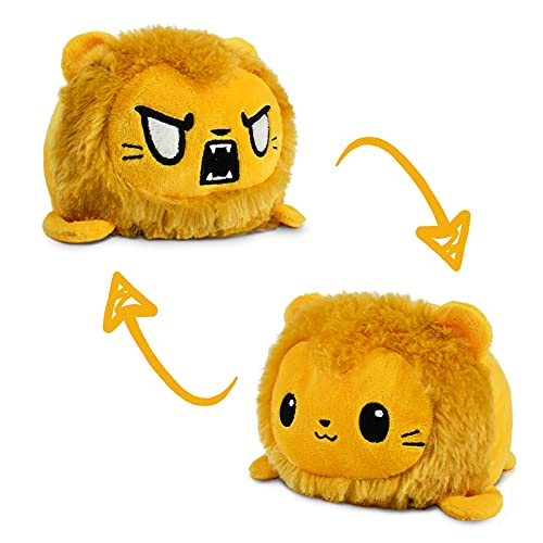 TeeTurtle | The Original Reversible Lion Plushie | Patented Design | Sensory Fidget Toy for Stress Relief | Show Your Mood Without Saying a Word!
