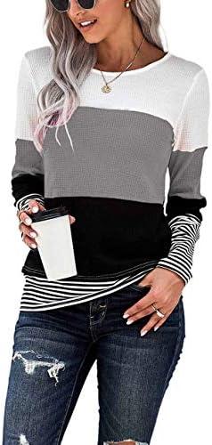 NEYOUQE Womens Color Block Loose Long/Short Sleeve...