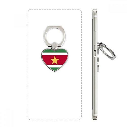 DIYthinker Suriname Nationale Vlag Zuid-Amerika Land Hart Telefoon Ring Stand Houder Beugel Universele Ondersteuning Gift