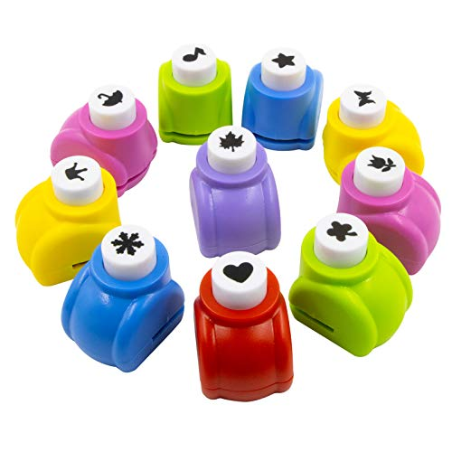 JSY Punch Craft Set, 10 Pack Hole Punch Shapes Hole Punch Shape Scrapbooking Supplies Shapes Hole Punch Great for Crafting & Fun Projects