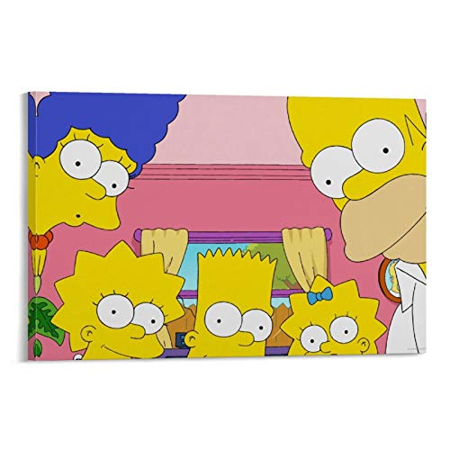 DRAGON VINES The Simpsons - Lienzo impreso con diseño de comedia animada para niños (50 x 75 cm)