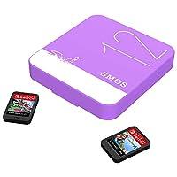 SMOSゲームカードボックス Adapt Switch / Switch Liteユニバーサルゲームカードボックスに適用 NSゲームカードボックス TFカードボックスに適し (Dream Purple)