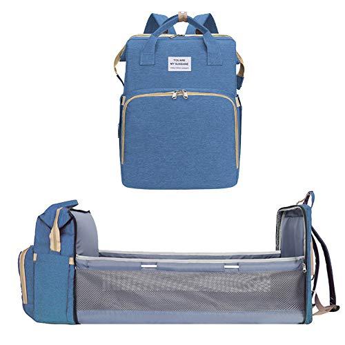 Estación de cambio de pañales portátil, bolsa de cuna plegable, mochila para momia, cama infantil, cuna de nido de cuna, cuna de viaje de gran capacidad multifunción