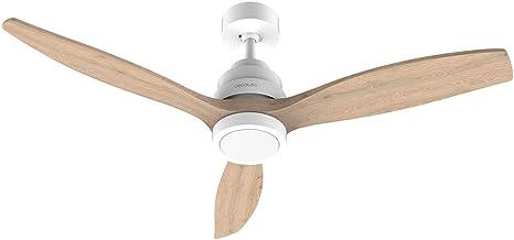 Cecotec Ventilador de Techo EnergySilence Aero 5250 White Design. 40 W, Diámetro 132 cm, Motor DC, Luz LED, 6 Velocidades,...