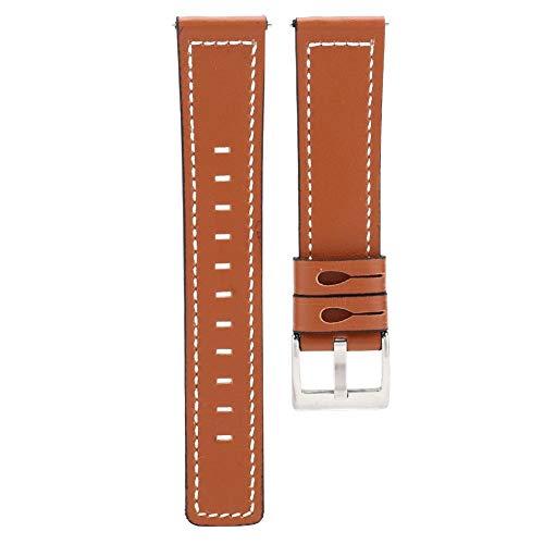Correa de reloj de cuero de vaca de 2 colores, correa de muñeca de banda de reloj deportivo para hombres y mujeres + pulsera de joyería Pulsera de reloj + correa de reloj de pulsera de cuero(1 #)