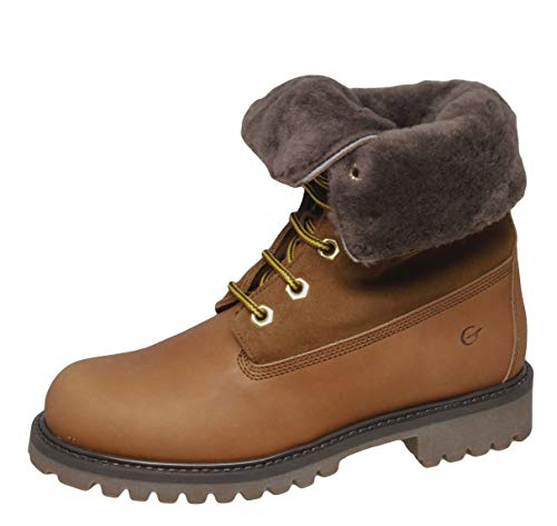 Gallucci 1077 Teenager Stiefeletten Schnürer Boots Leder, Braun (Cuoio), EU 37