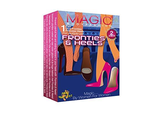 MAGIC BODYFASHION Damen Fronties und Heels Socken, Transparent (Clear 050), One Size