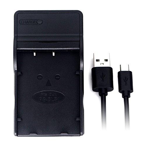 BLS-1 USB Cargador para Olympus E-400, E-420, E-450, E-600, E-620, E-M10, E-P1, E-P2, E-P3, E-PL1, E-PL1s, E-PL2, E-PL3, E-PL5, E-PL6, E-PL7, E-PM1, E-PM2, EVOLT E-410, Stylus 1, 1s batería