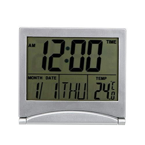 Runy Bureau Klok Multifunctionele Alarm Klok Tijd Datum Temperatuur Timer LCD Digitale Opvouwbare Home Decor