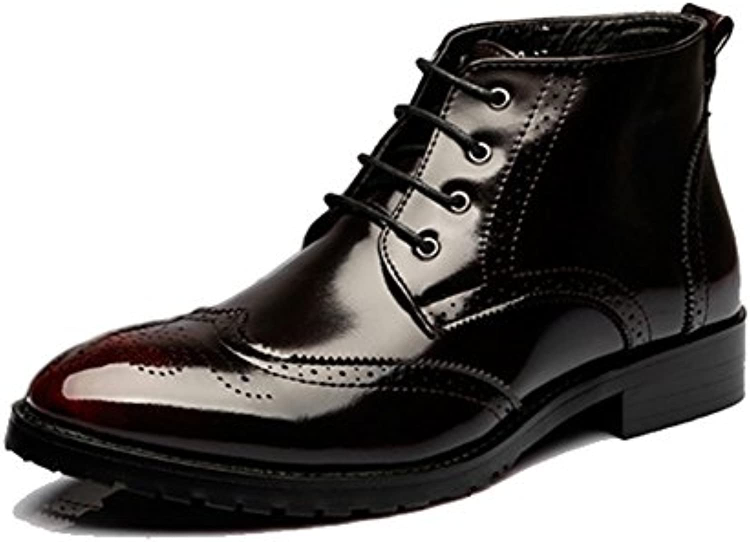 Beinfaith Men's Classic Leather Brogues Oxfords Ankle Dress Boots