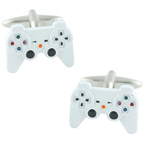 masgemelos Manschettenknöpfe Playstation weiß Cufflinks