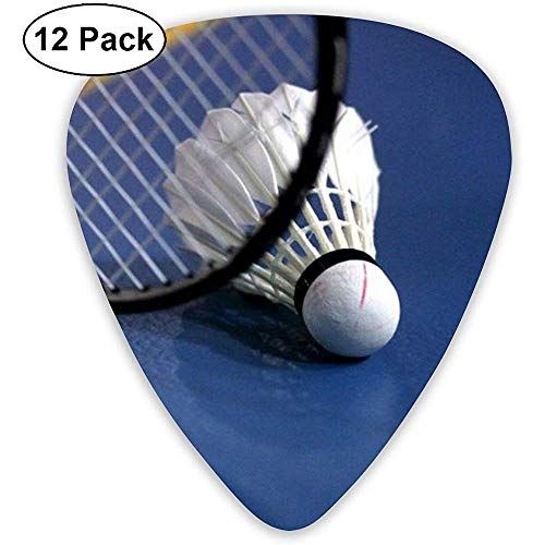 Gitarren Plektren, Badminton Tennis Plektren Set für akustische E-Gitarre Bass Mandoline Ukulele