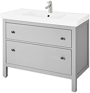 IKEA Sink Cabinet with 2 Drawers, Gray 39 3/8x19 1/4x35