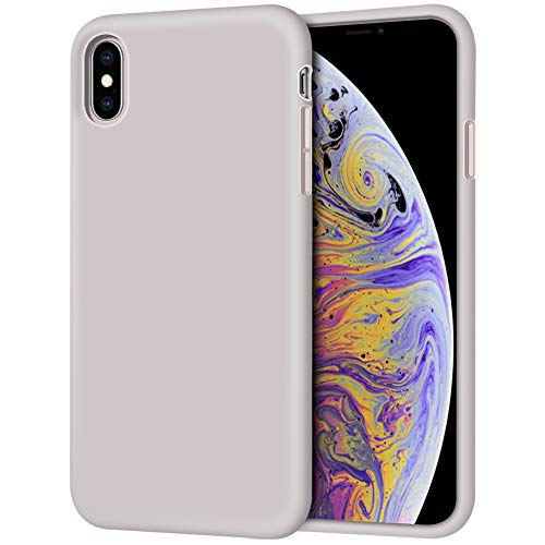 "iPhone Xs Max Case, Anuck Soft Silicone Gel Rubber Bumper Case Anti-Scratch Microfiber Lining Hard Shell Shockproof Full-Body Protective Case Cover for Apple iPhone Xs Max 6.5"" 2018 - Lavender Gray"
