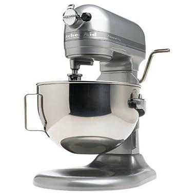 KitchenAid RKP26M1XMC Professional 600 Series Bowl-Lift Stand Mixer, 6 Quart, Metallic Chrome (Certified Refurbished)