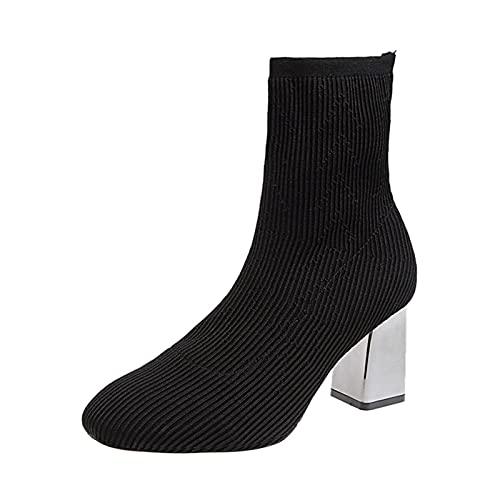 scarpe stivali stivaletti stivaletto boots sneaker Scarpe Donna Moda Casual Traspirante Tacchi alti Stivaletti per il tempo libero all'aperto (41,nero)