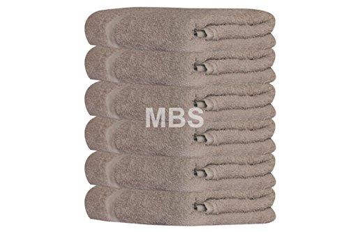 MBS - Juego de 6 toallas de baño de algodón, toalla de ducha, toalla de playa, spa, 100 x 150 cm, extra grande, toallas de baño