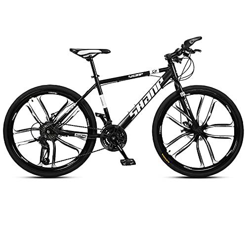 YXY Bicicleta de montaña de 26 Pulgadas, 21/24 / 27 Velocidad económica Bicicleta Opcional para Hombres, Mujeres, Adultos, jóvenes, Estudiante Masculino Bicicleta Plegable Bicicleta portabicicleta