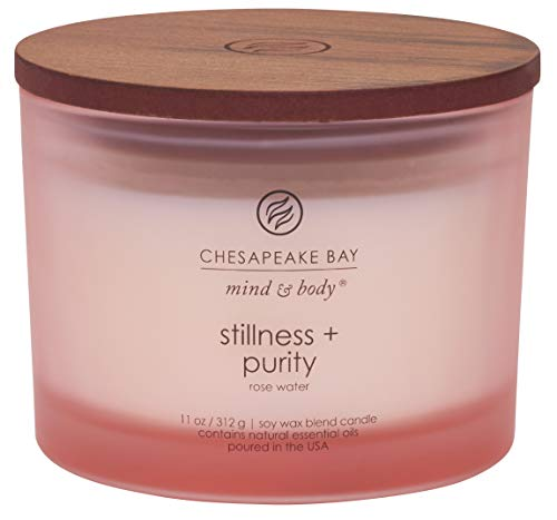 Chesapeake Bay Candle Scented Candle, Stillness + Purity (Rose Water), Coffee Table