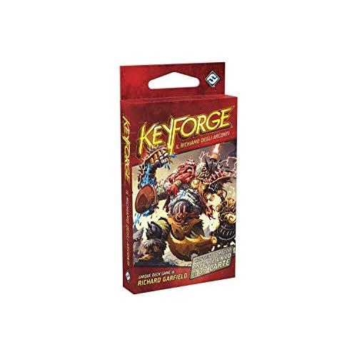 Asmodee- Keyforge, il Richiamo degli Arconti - Mazzo Gioco di carte, Colore Rosso, 10601