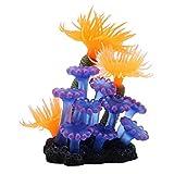 ViaGasaFamido Plantas acuáticas de Acuario, simulación de Acuario, Silicona, Coral, anémona de mar, pecera, Plantas acuáticas Artificiales, decoración del Paisaje