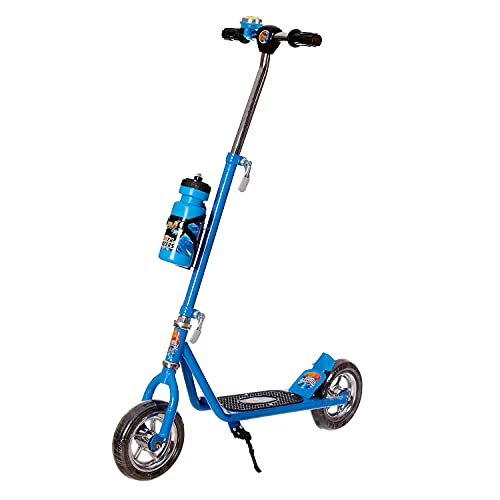 Dash Power Ranger 2 Wheel Scooter for Kids with Sipper, Bell, Stand and Adjustable Height Upto 12 Years Kids (Capacity 60 kg, Blue)