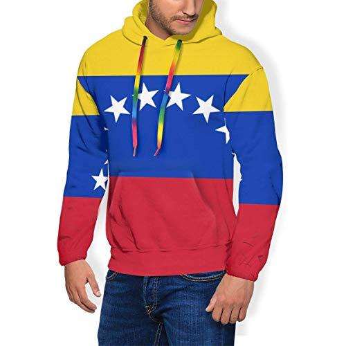 Harla Sudadera con Capucha para Hombre Bandera de Venezuela Sudadera con Capucha con Capucha y Forro Polar