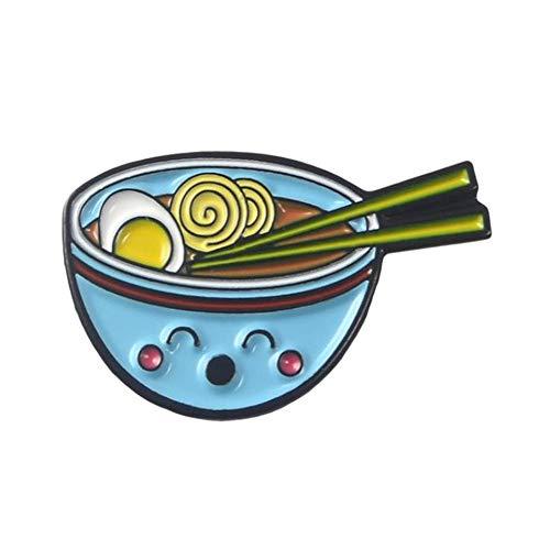 Aqiong KAERMA cartoon raam sushi emaille pins schattige Japanse foods Tonkotsu noedeln broches denim hemd-kraag revers-stiften badge sieraden geschenken decoratieve accessoires