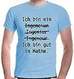 buXsbaum® Herren T-Shirt Bedruckt Ich Bin EIN Ingenieur   L, Blau