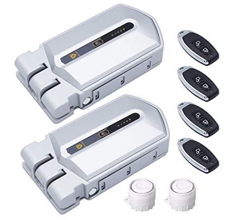 Cerradura Invisible con alarma Golden Shield Alarm - Controla Dos cerraduras electrónicas Invisibles con alarma con un mismo mando