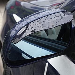 TRUE LINE Automotive Two Piece Smoked Black Mirror Rain Visor Smoke Guard