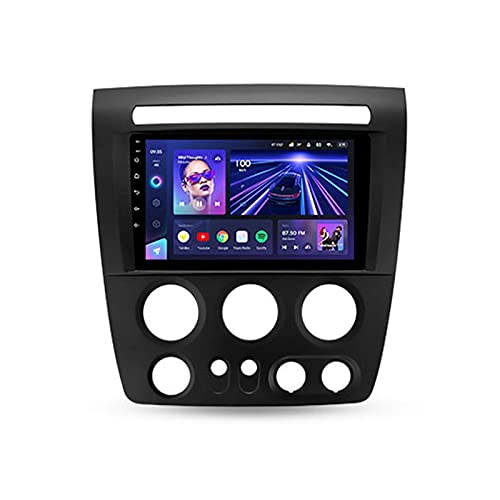 ADMLZQQ Android 10 Estéreo Automóvil 9'' BT Carplay Radio para Hummer H3 1 2005-2010,Soporte 5Gwifi Mandos De Volante Cámara Trasera Enlace Espejo 3D Dinámica De Conducción En Tiempo Real,Cc3,3+32G