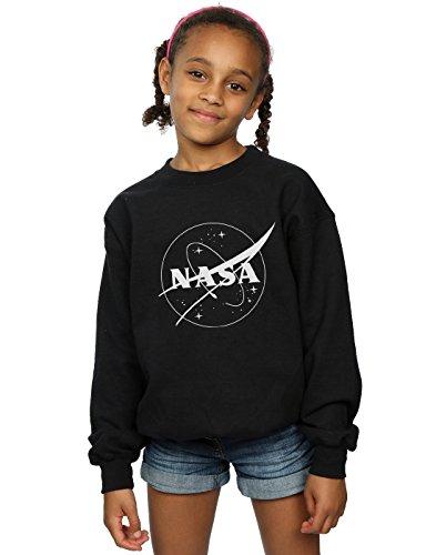 Absolute Cult NASA Niñas Classic Insignia Logo Monochrome Camisa De Entrenamiento Negro 9-11 Years