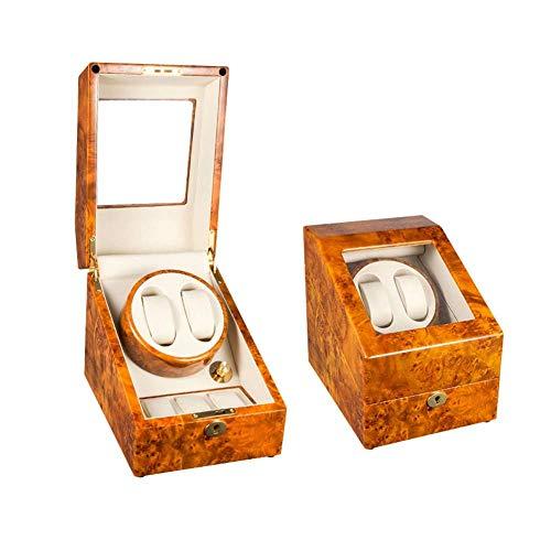 SGSG Caja enrolladora de Reloj de Madera con Pintura de Piano para Relojes automáticos, con Caja de Almacenamiento de Reloj multiepítopo con Motor Mudo