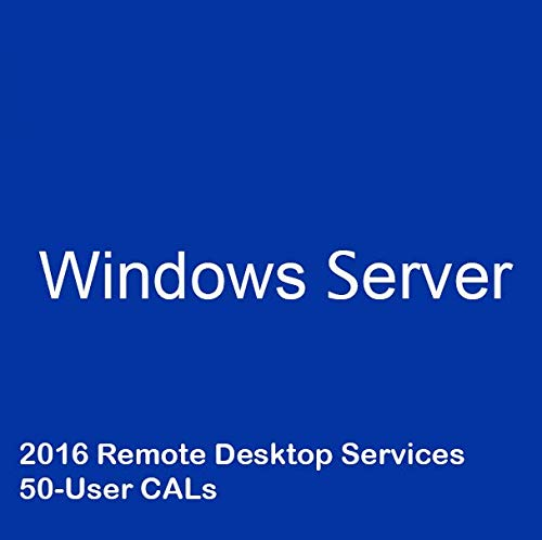 Windows Server 2016 Remote Desktop Services RDS 50 User Cal Digital delivery