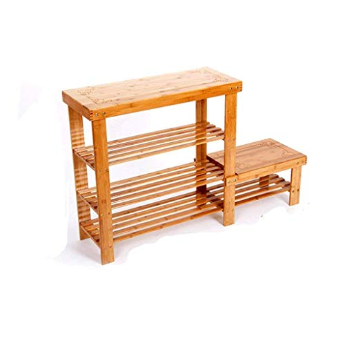 LLLKKK Zapatero de bambú, fácil almacenamiento, zapatero multicapa, 108 x 27 x 60 cm, 108 x 27 x 60 cm