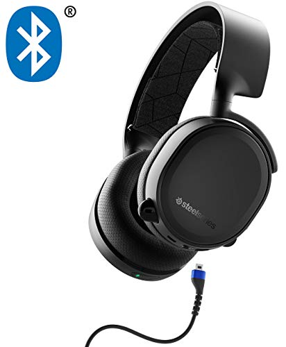 SteelSeries Arctis 3 Bluetooth (2019 Edition) Wired and Wireless Gaming Headset for Nintendo...