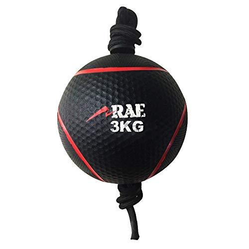 Bola Emborrachada para Treinamento Funcional - Medicine Ball com Corda 3 kg - Rae Fitness