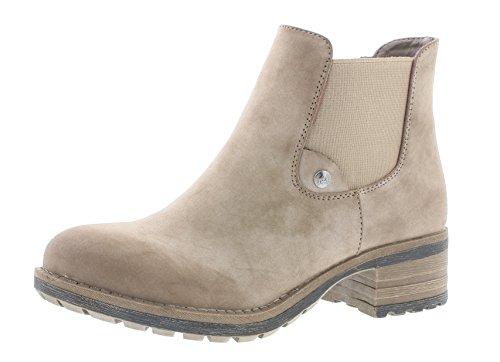 Rieker Damen Chelsea Boots 96860,Frauen Stiefel,Halbstiefel,Stiefelette,Bootie,Schlupfstiefel,hoch,Blockabsatz 4.5cm,Congo, EU 39