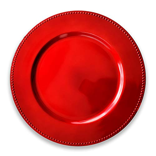 Red Dining Charger Plate – Luxury Touch to Your Christmas Table – The Spirit of Xmas