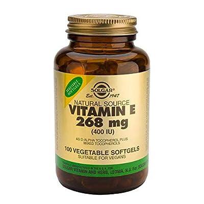 Solgar Vitamin E 400 IU Mixed Softgels D-Alpha Tocopherol and Mixed Tocopherols, 100 Count
