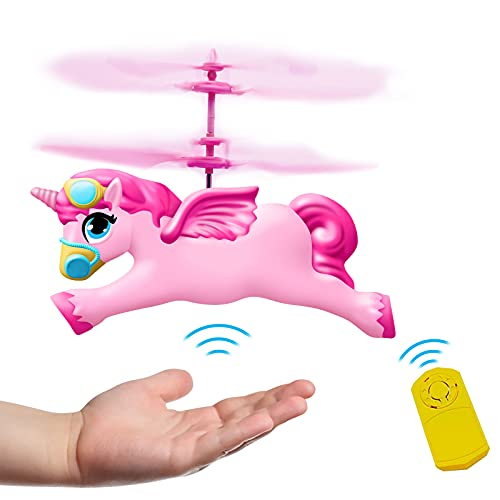 New Girls Toys Flying Fairy Unicorn Ball Toy Gifts - Rc & Hand Control Flying Helicopter Unicorn Drone Toys for Girls Boys Age 6 7 8 9-12 Year Old