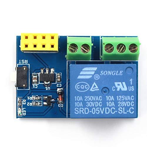 AY94ESP8266 ESP-01S 5V Módulo de relé WIFI Interruptor remoto Aplicación de teléfono Kit de diseño de proyecto Socket inteligente para Arduino, azul