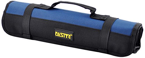 FASITE PTN028B 35- Pockets Socket Tool Roll Pouch Small Tool Bag, Blue