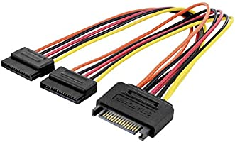 ASSMANN Electronic AK-430405-003-M Cable de alimentación Interna 0,3 m - Cables de alimentación Interna (0,3 m, 2 x SATA...