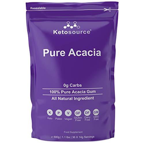 Reine Akazie (500g Beutel)   0g Kohlenhydrate   Keine Kalorien   Geeignet für ketogene Ernährung und Fasten Ketosource® (500g)