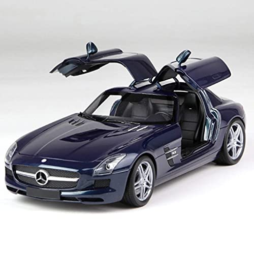 min min 1:18 Mercedes-Benz SLS AMG Modelo Modelo Gull Aleas de ala Simulación Super Running Modelo de Coche (Color: Azul) (Color : Blue)