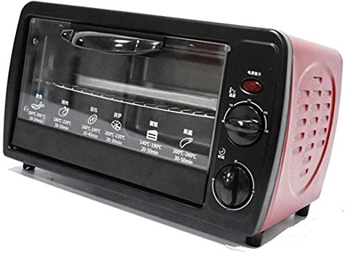 Tienda 12L Mini horno con rotisserie, temperatura ajustable fácil de limpiar, accesorios incluidos, acero inoxidable 640 vatios