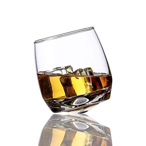 KAYBELE Vidrio Creativo Vaso Giratorio Gafas Vino Whisky Whisky Rock Vidrio para la Oficina Oficina casa Cerveza Jack Whisky Cristal Taza al por Mayor (Color : 6 Pieces)